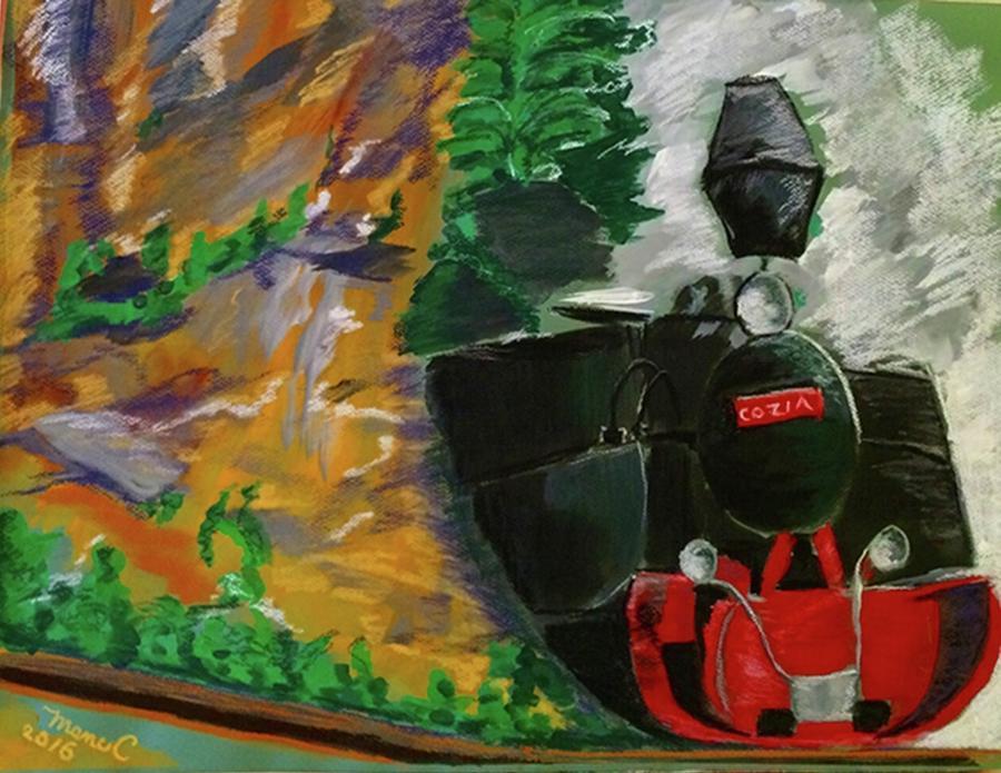 Steam Train Pastel