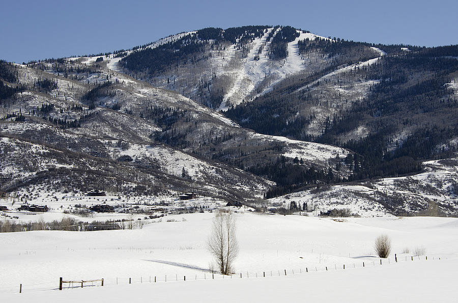 steamboat Springs Resort  Photograph - Steamboat - Colorado by Brendan Reals