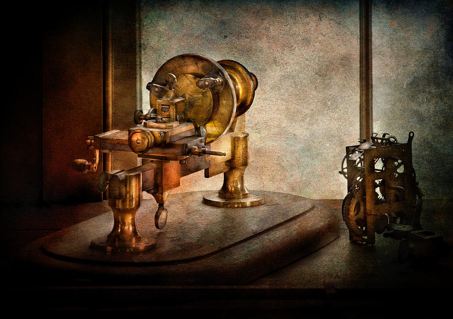 Hdr Photograph - Steampunk - Gear Technology by Mike Savad