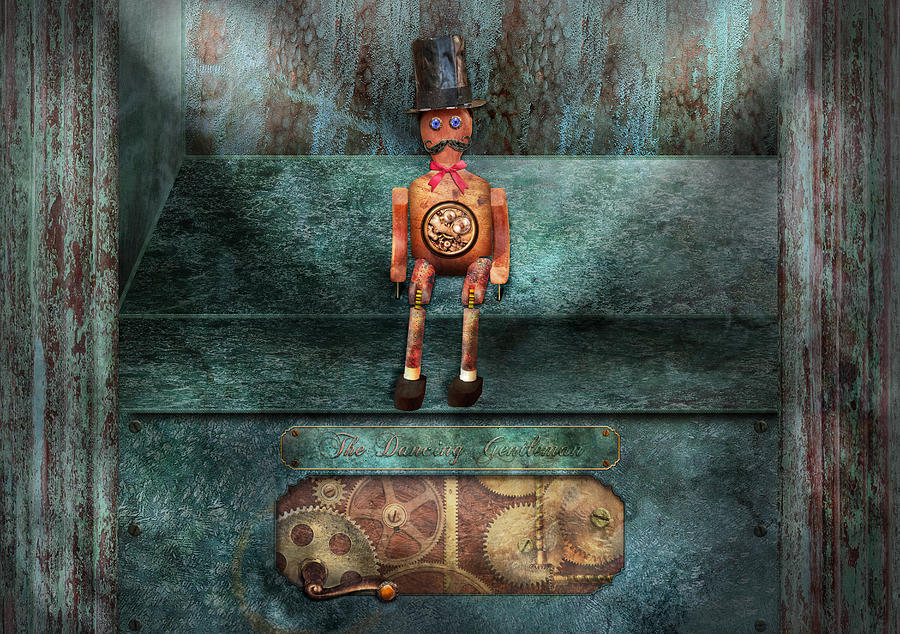 Hdr Photograph - Steampunk - My Favorite Toy by Mike Savad