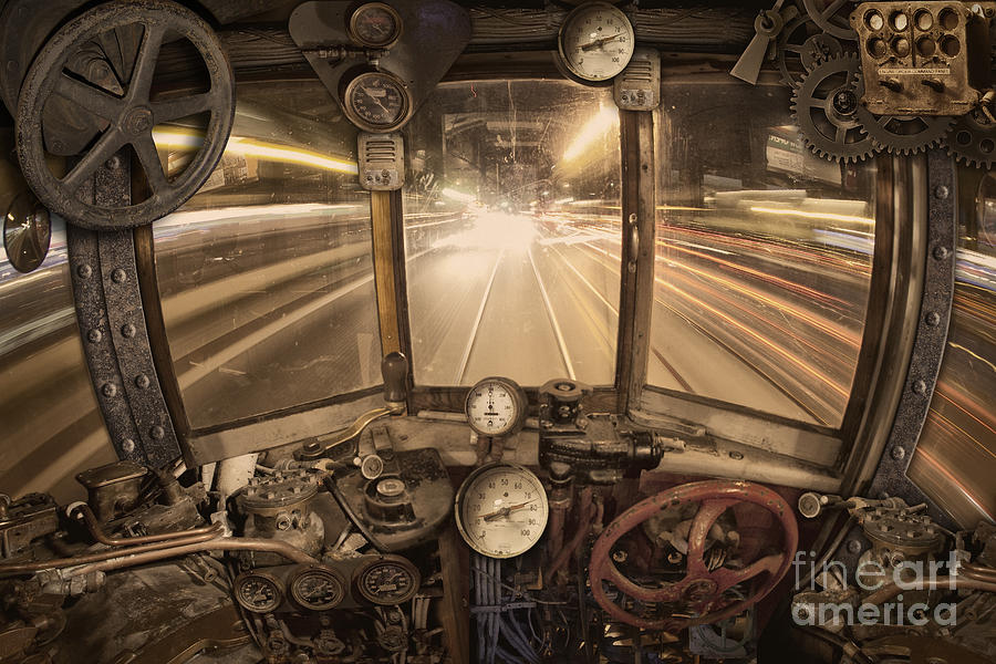 Steampunk Photograph - Steampunk Time Machine by Keith Kapple