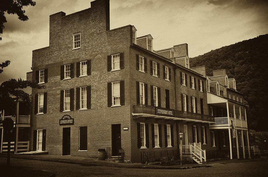 Stephensons Photograph - Stephensons Hotel - Harpers Ferry  West Virginia by Bill Cannon