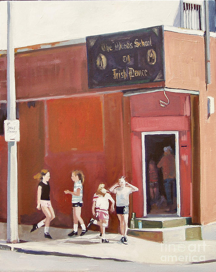 Irish Step Painting - Stepping Out by Deb Putnam