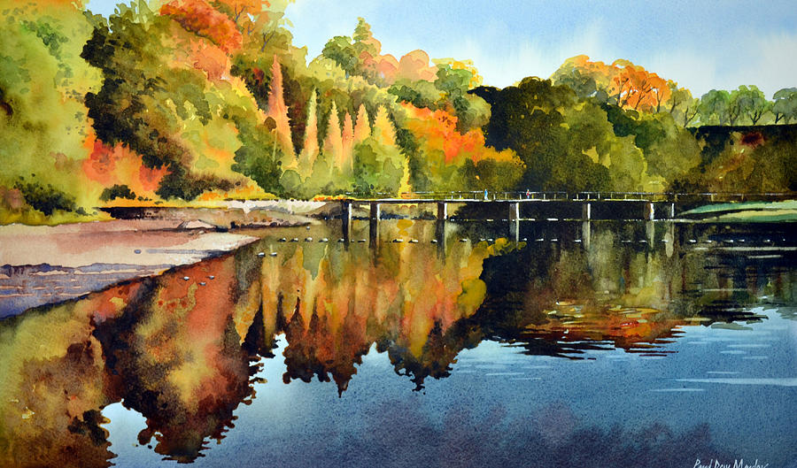 Bolton Abbey Painting - Stepping Stones Bolton Abbey by Paul Dene Marlor