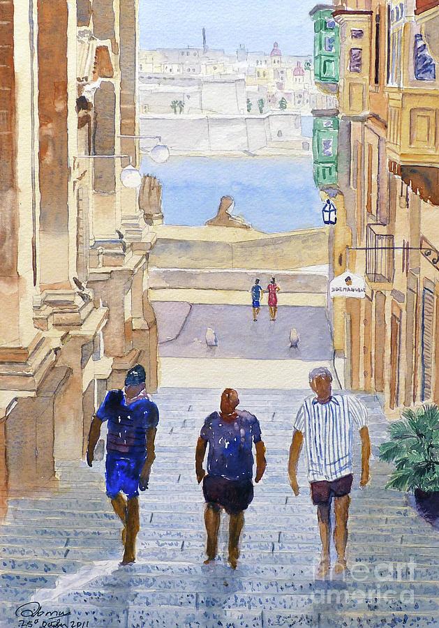 Steps Painting - Steps by Godwin Cassar