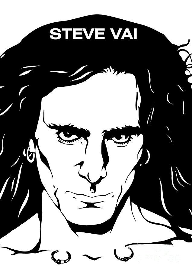Steve Vai  Digital Art - Steve Vai No.03 by Caio Caldas