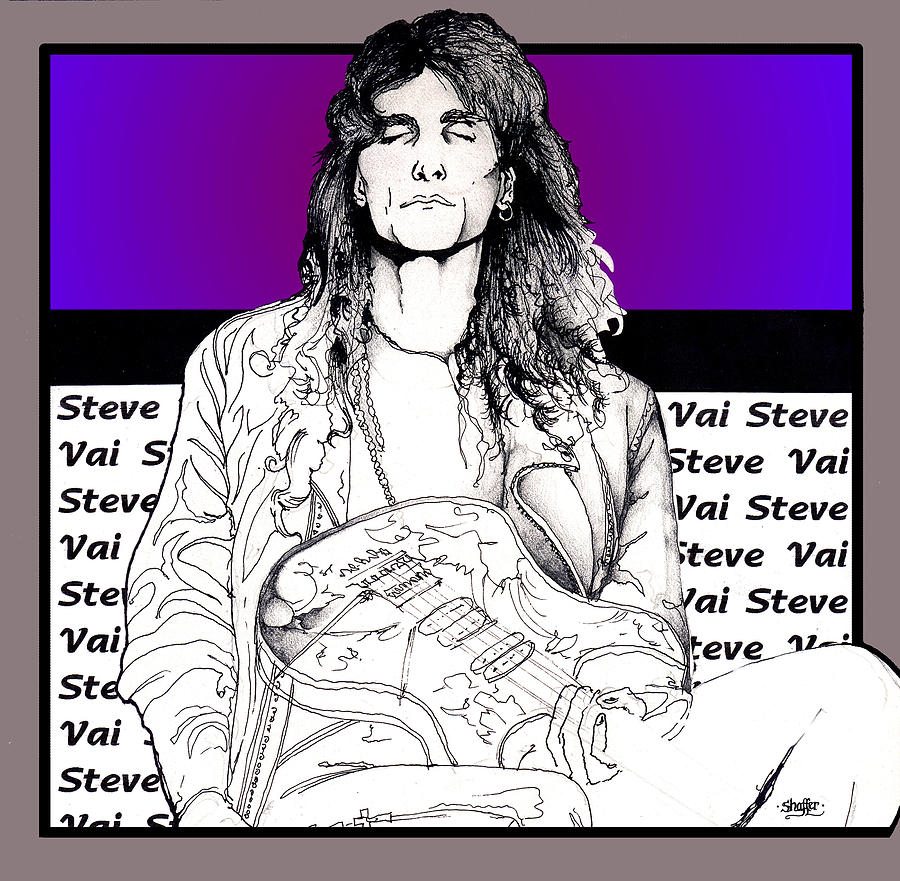 Steve Vai Sitting Mixed Media
