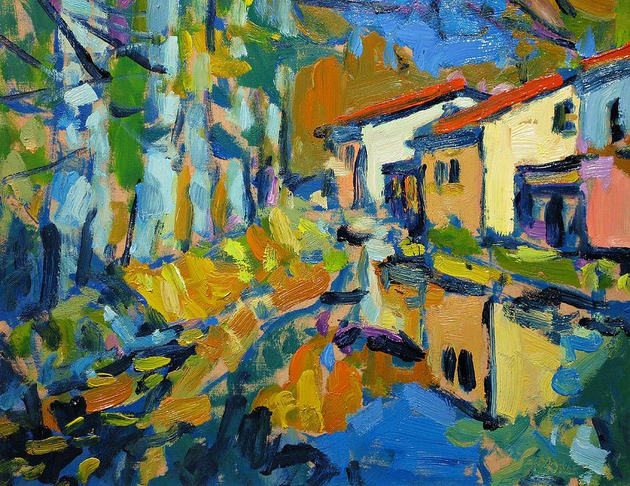 Fall Painting - Still Creek by Brian Simons