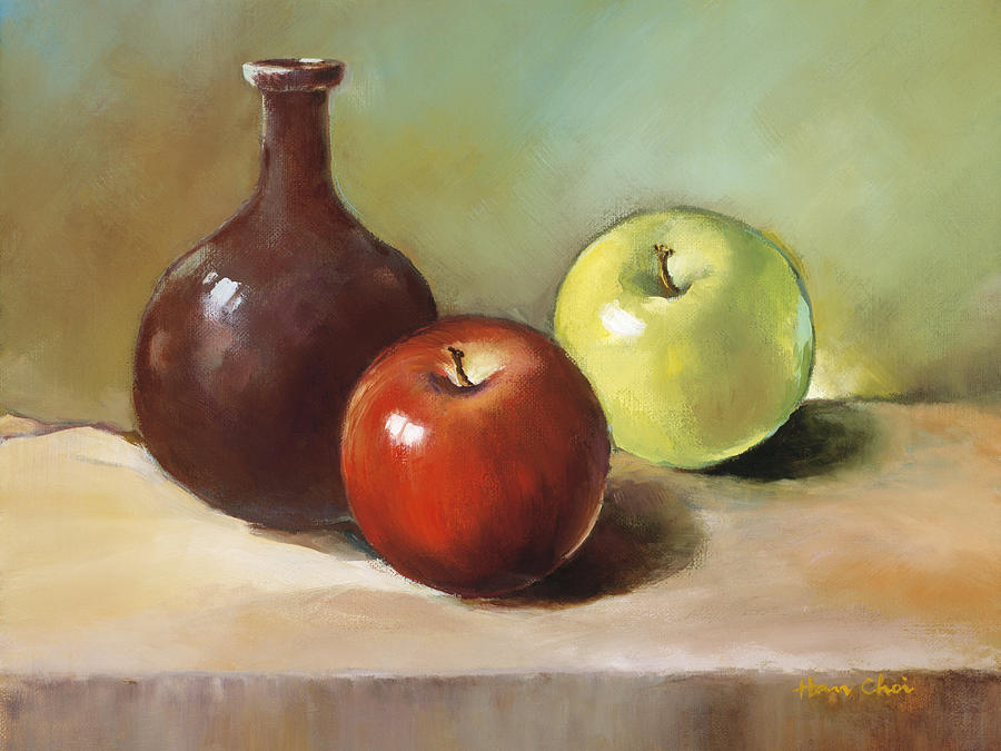 Apple Painting - Still Life I by Han Choi - Printscapes