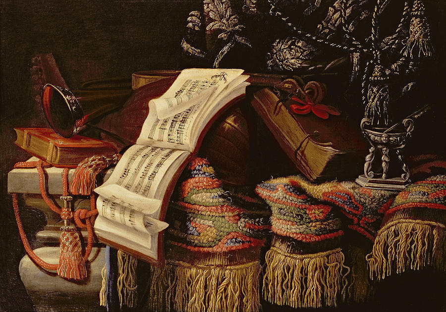 Still Life With A Book Of Sheet Music Painting By