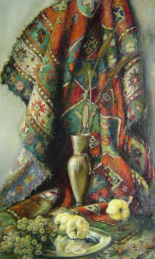 Armenia Painting - Still-life With An Old Rug by Tigran Ghulyan