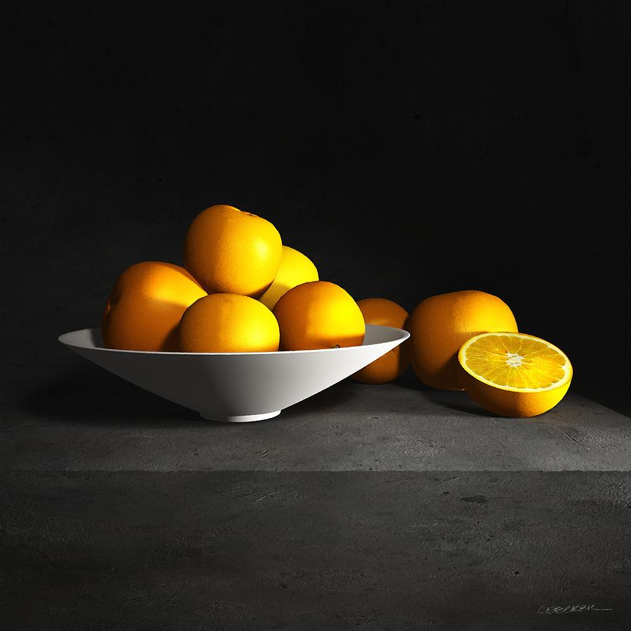 Cynthia Decker Digital Art - Still Life With Oranges by Cynthia Decker