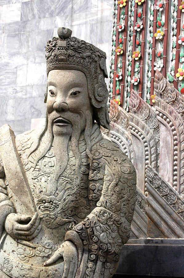 Stone Statue Of A God At The Grand Photograph