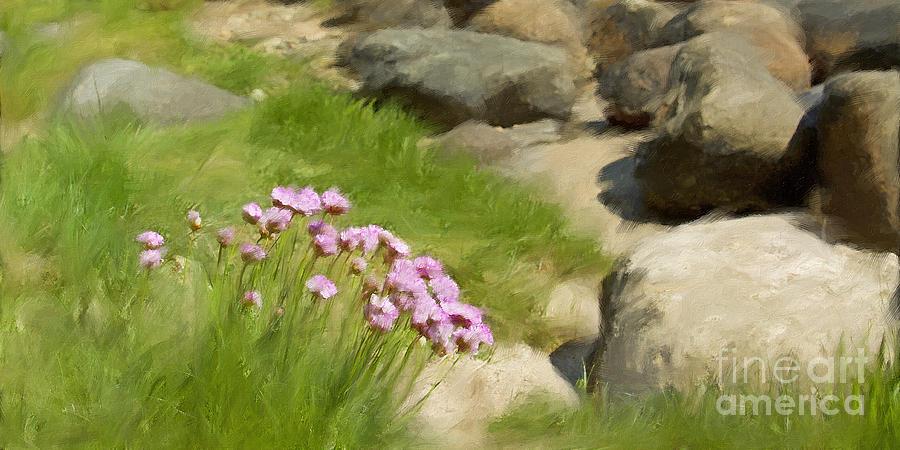 Impressionism Painting - Stony Beach Impression by Lutz Baar