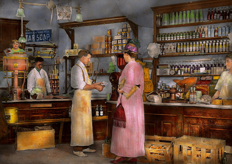 store in a general store 1917 photograph by mike savad