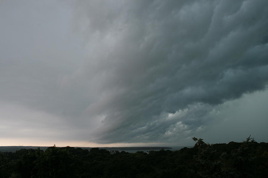 Storm Photograph - Storm Approaches Montauk by Christopher Kirby
