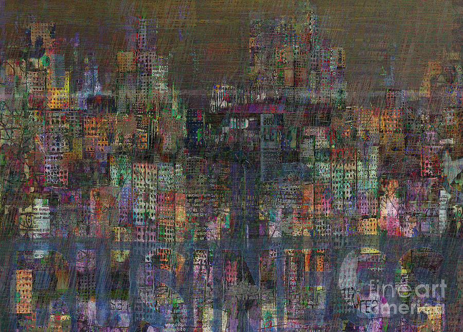 Financial Crisis Digital Art - Storm In The City  by Andy  Mercer