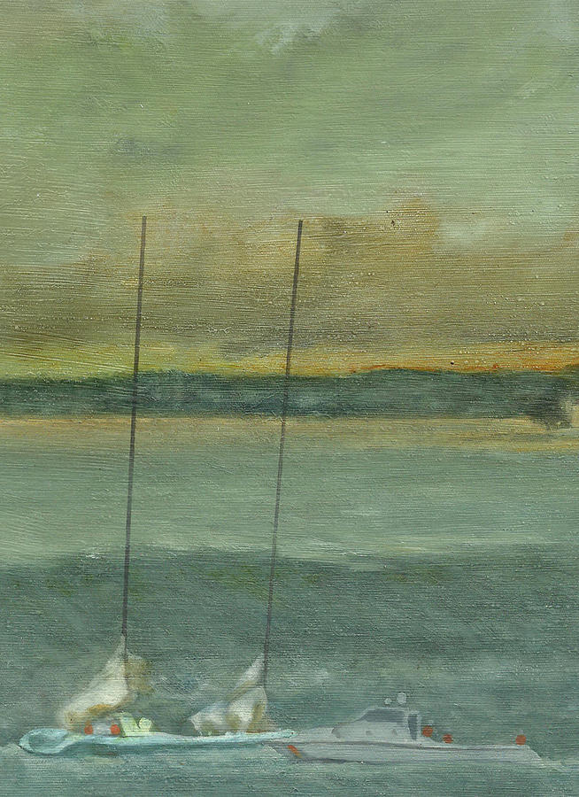 Hurricane Painting - Storm On The Horizon-detail by Perry Ashe