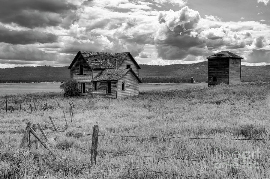 Black And White Photograph - Storm Over Big Sky Montana by Sandra Bronstein
