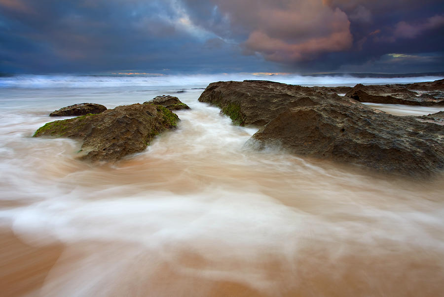 Seascape Photograph - Storm Shadow by Mike  Dawson