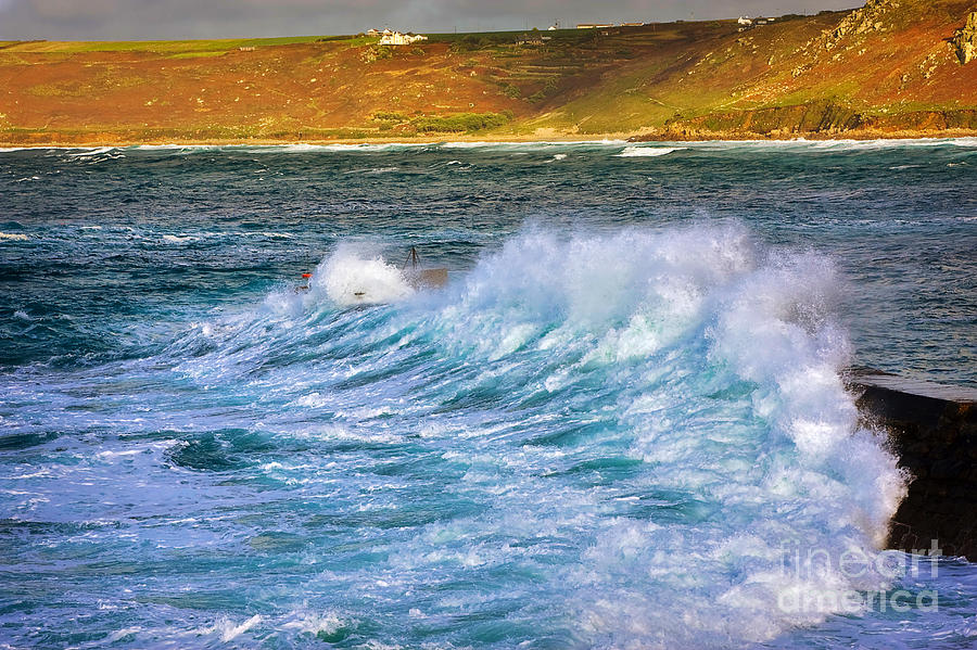 Travel Photograph - Storm Wave by Louise Heusinkveld
