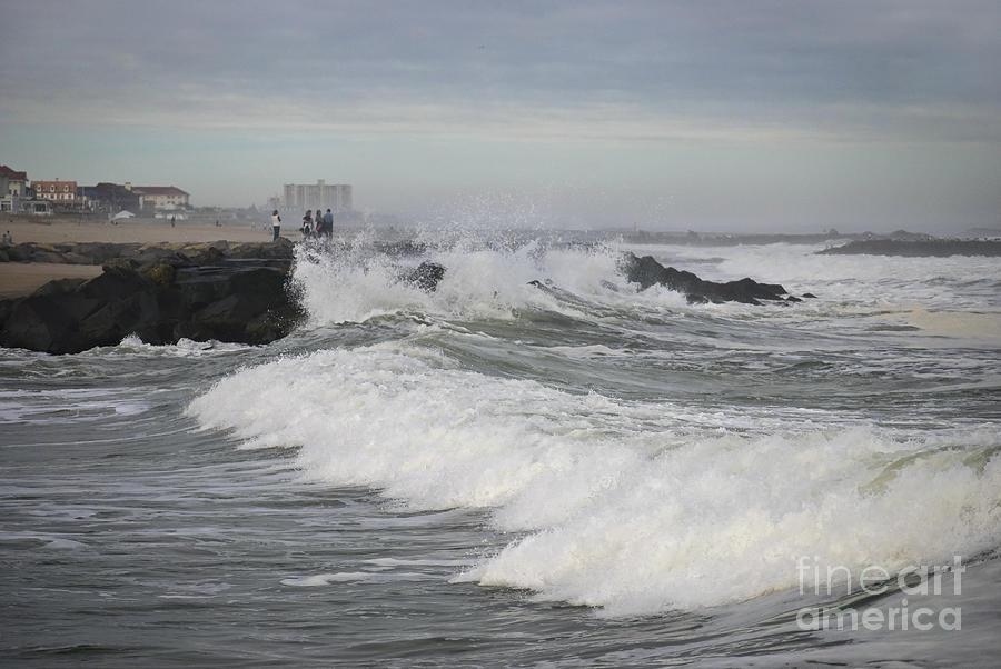 Seascape Photograph - Stormy Asbury Park by Andrew Kazmierski