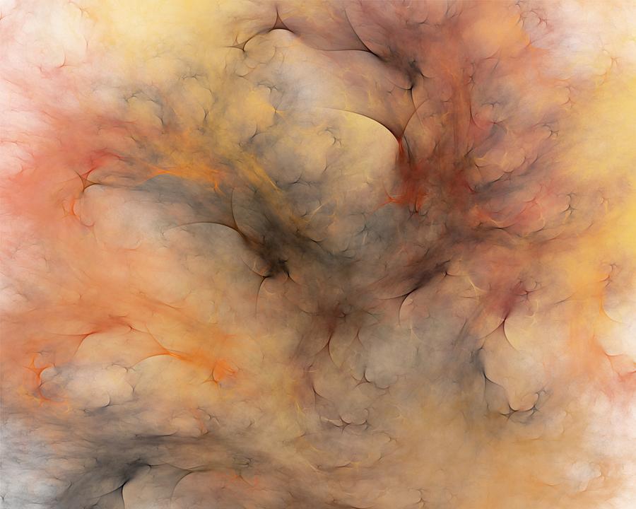 Abstract Digital Art - Stormy by David Lane