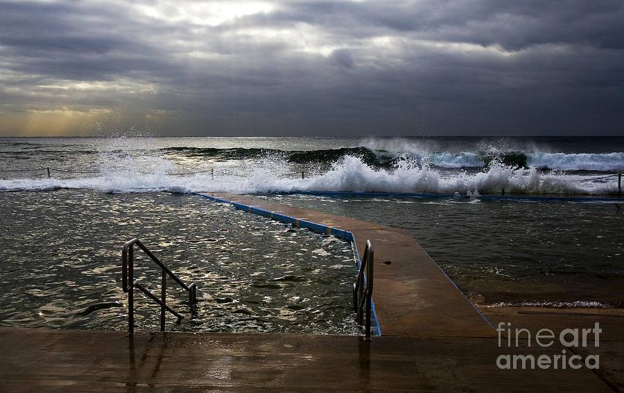 Storm Clouds Collaroy Beach Australia Photograph - Stormy Morning At Collaroy by Avalon Fine Art Photography