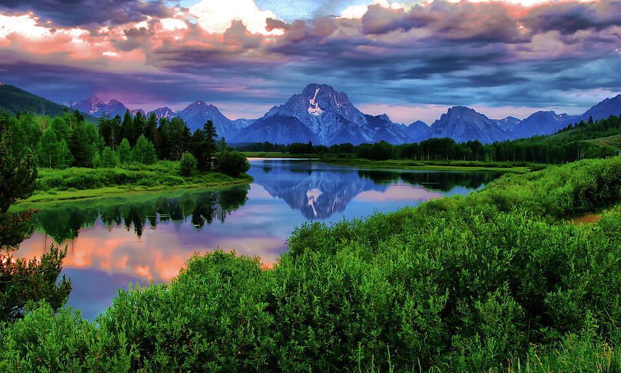 Horizontal Photograph - Stormy Morning In Jackson Hole by Jeff R Clow