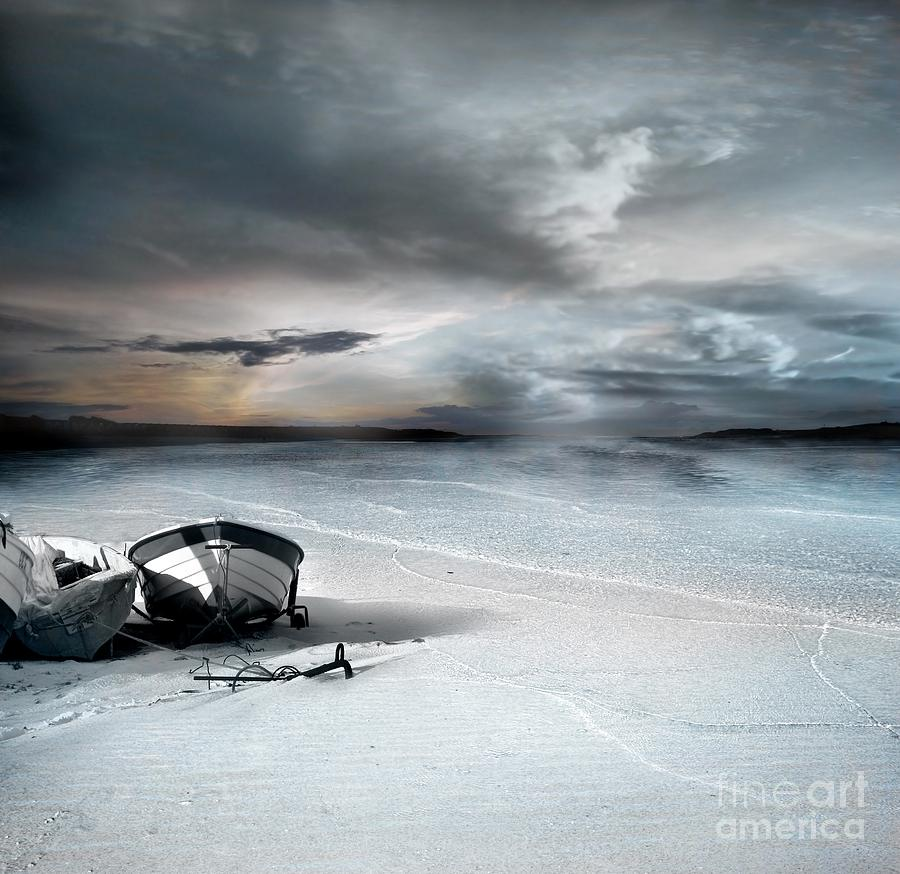 Water Photograph - Stranded by Jacky Gerritsen