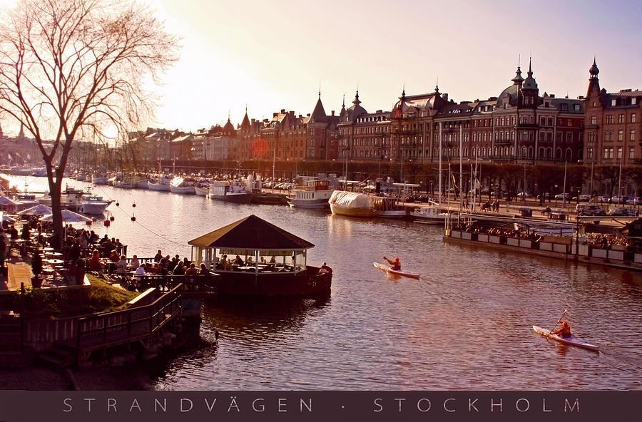 Strandvagen Stockholm Captioned Photograph
