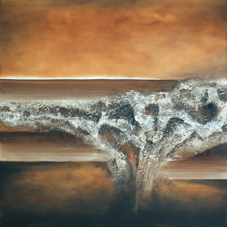 Oil Painting - Strata by Mike Irwin