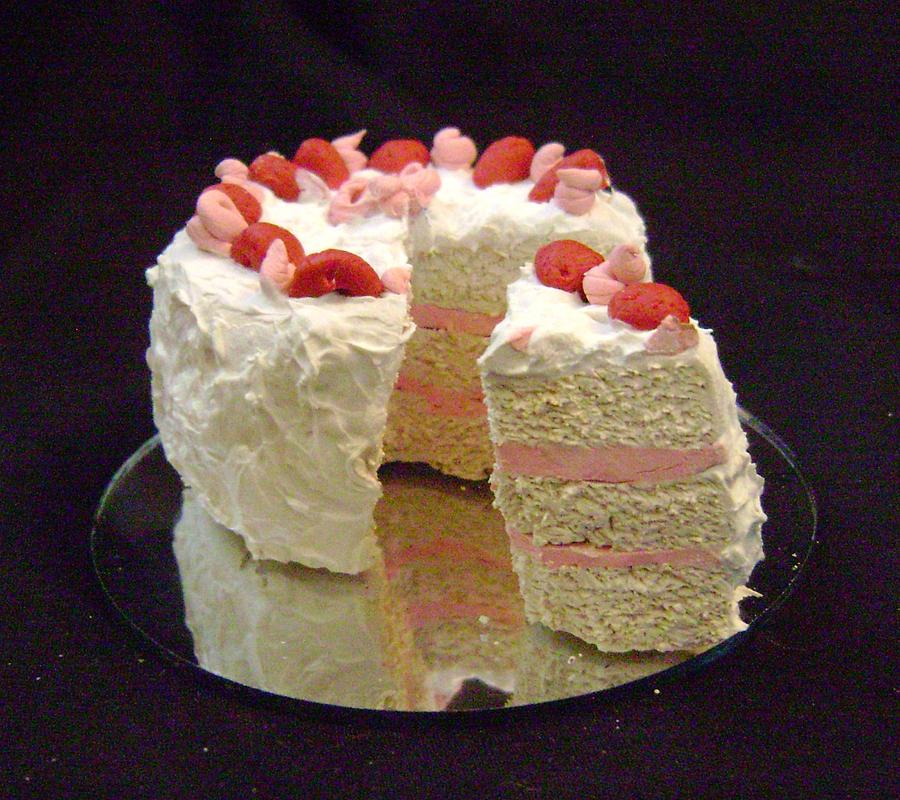 Strawberry Layer Cake Sculpture by Kenya Thompson