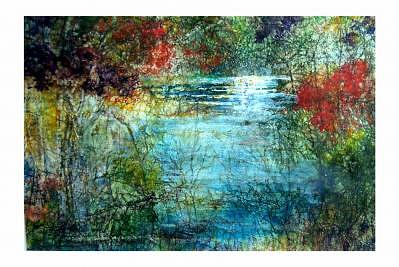 Landscape Painting - Stream Of Light by Charlotte Bailey Rierson