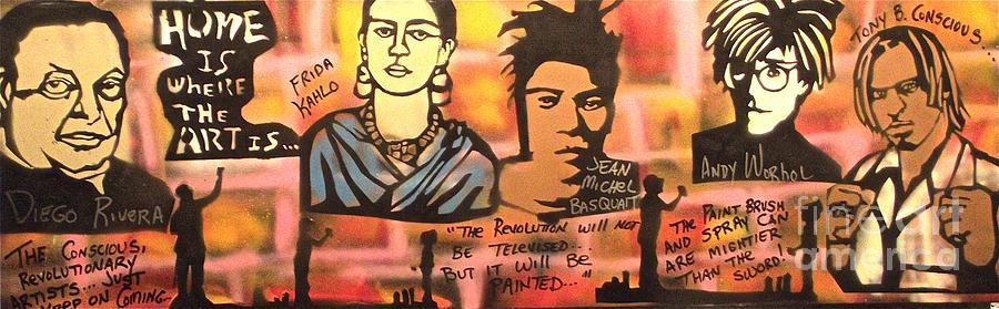 Frida Kahlo Painting - Street Art Lives by Tony B Conscious