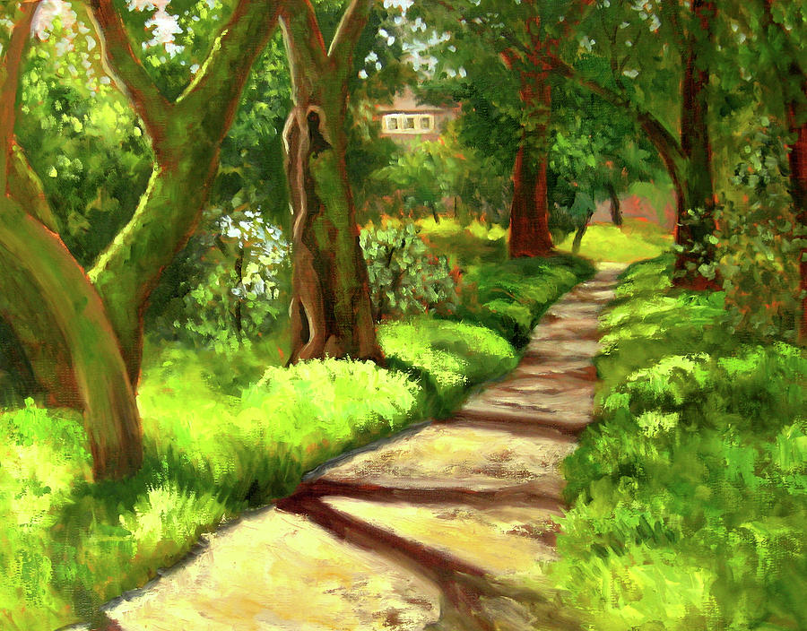 Oaks Painting - Stroll Through The Oaks by Char Wood