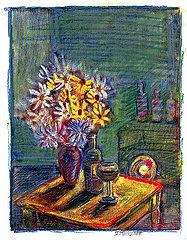Still-life Drawing - Studio Still-life by Don Thibodeaux