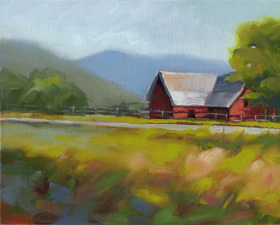 Farm Painting - Study 2 by Todd Baxter
