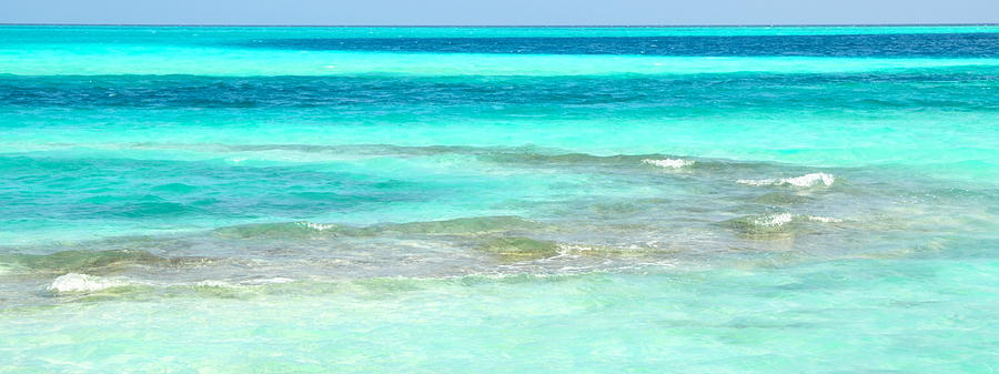 Maldives Photograph - Study In Blue by Corinne Rhode