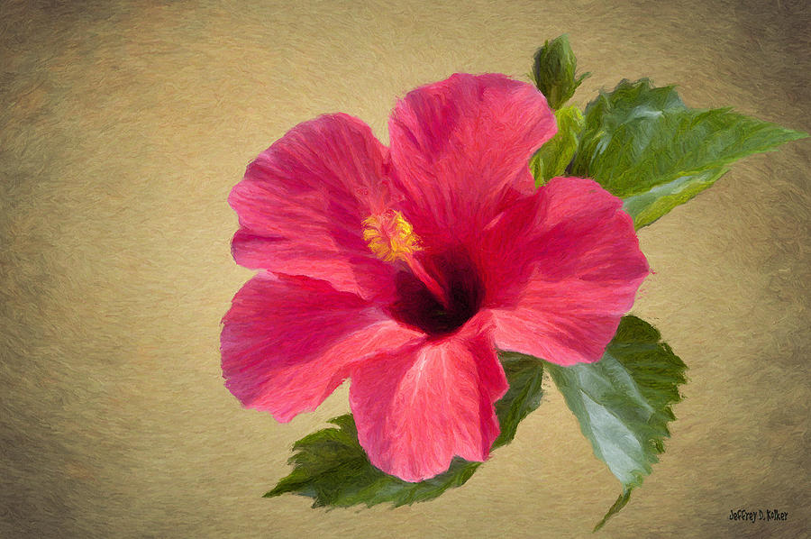 Flower Painting - Study In Scarlet by Jeff Kolker