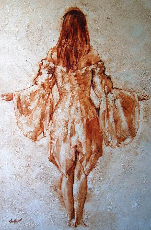 Figurative Painting - Study Of An Angel by Stuart Gilbert