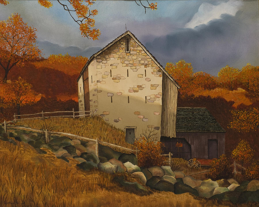 Barn Painting - Study Of Eric Sloane by Cynthia Ablicki