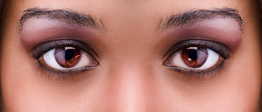 Eyes Photograph - Stunning Eyes by Val Black Russian Tourchin