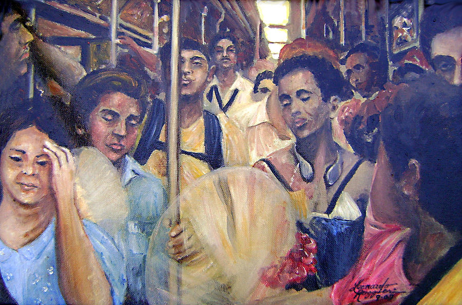 Ny City Painting - Subway Heat by Leonardo Ruggieri