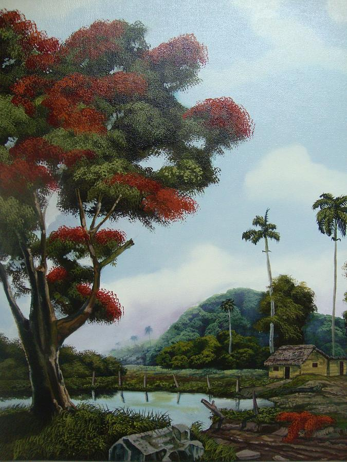 Tree Painting - Sudden Shade by Carlos Rodriguez Yorde