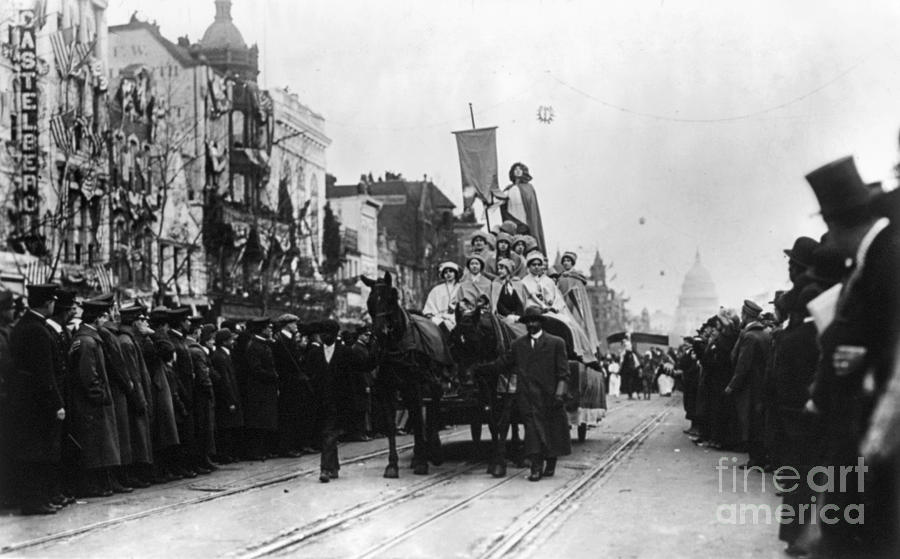 1913 Photograph - Suffrage Parade, 1913 by Granger