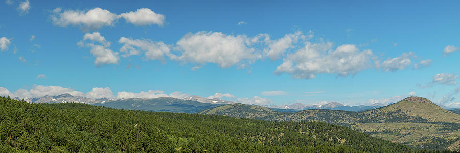 Sugar Magnolia Summer Rocky Mountain Peaks Panorama View Photograph