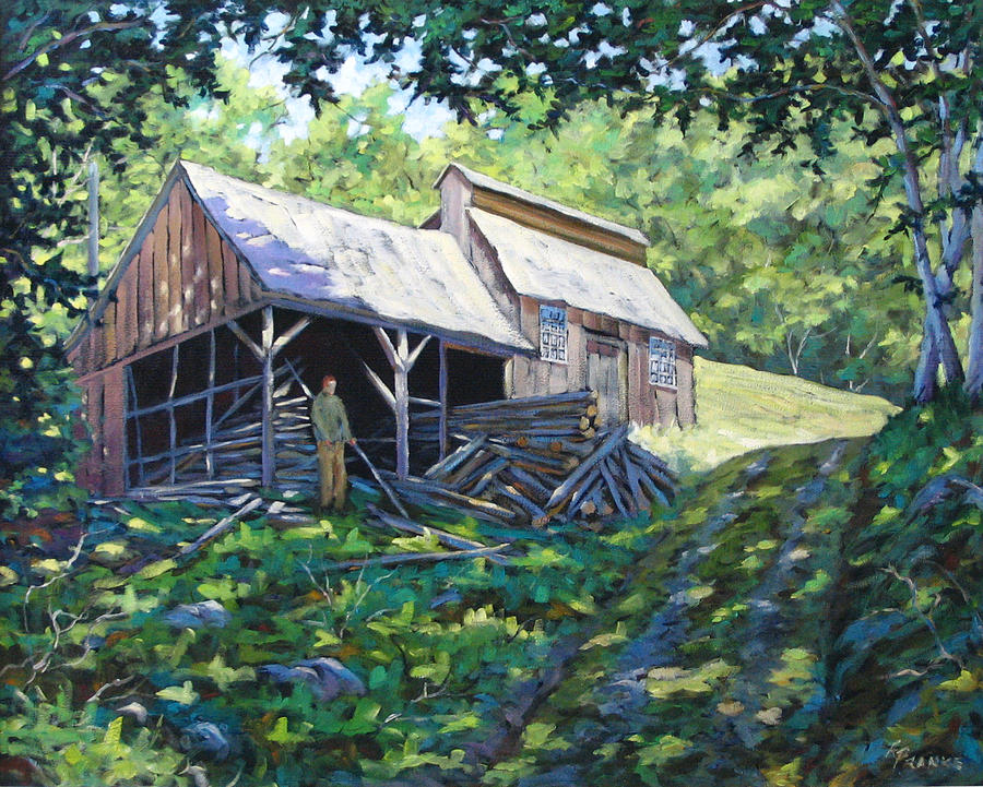 Sugar Shack Painting - Sugar Shack In July by Richard T Pranke