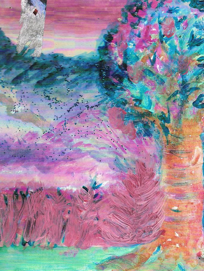 Pink Painting - Sugarland Dream Tree  by Anne-Elizabeth Whiteway