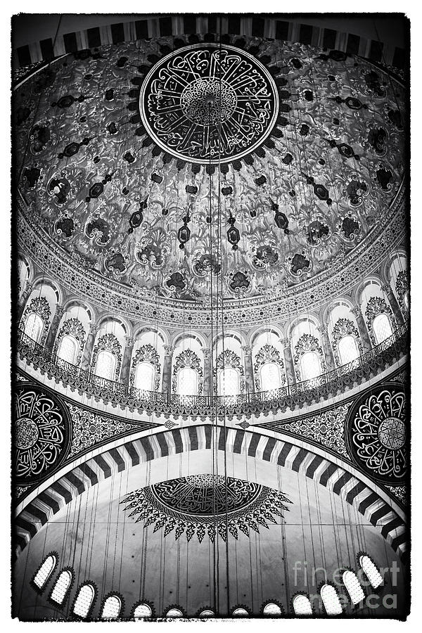 Suleymaniye Mosque Photograph - Suleymaniye Ceiling by John Rizzuto